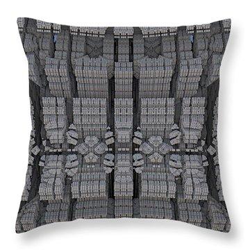 Settlement In Deep Space Throw Pillow