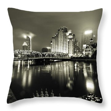 Throw Pillow featuring the photograph Shanghai Nights by Chris Cousins