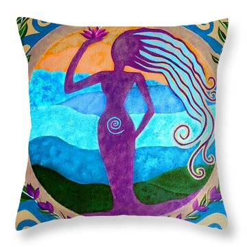 She Heals Throw Pillow