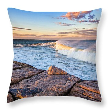 Shinnecock Inlet Surf Throw Pillow