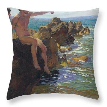 Ship Ahoy Throw Pillow by Paul Von Spaun