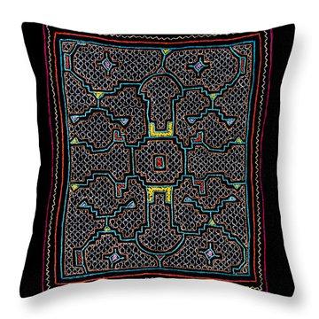 Shipibo Art Throw Pillow