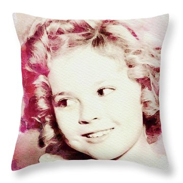 Shirley Temple, Vintage Actress Throw Pillow