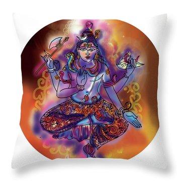 Shiva Dhyan Throw Pillow