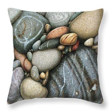 Shore Stones 3 Throw Pillow