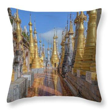 Shwe Indein Pagoda - Myanmar Throw Pillow