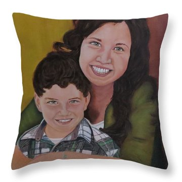 Siblings Throw Pillow