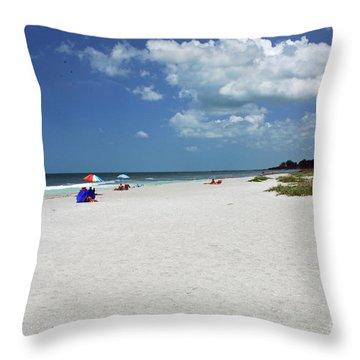 Throw Pillow featuring the photograph Siesta Key Beach by Gary Wonning