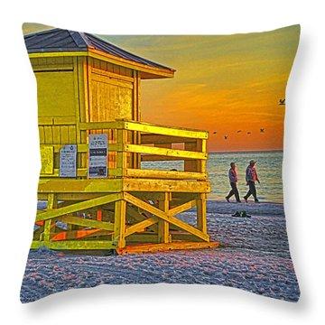 Siesta Key Sunset Throw Pillow by Dennis Cox WorldViews