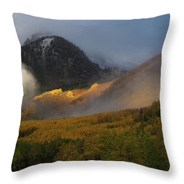 Throw Pillow featuring the photograph Siever's Mountain by Steve Stuller