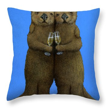Significant Otters... Throw Pillow