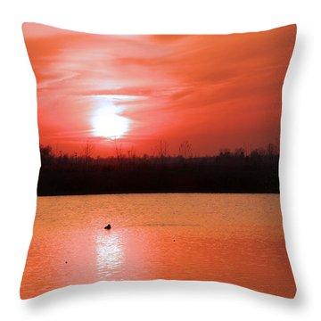 Silky Sunset Throw Pillow