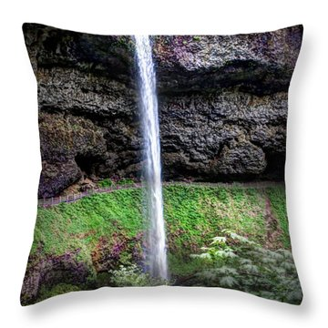 Silver State Waterfall Throw Pillow