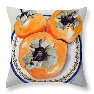 Simply Persimmons Throw Pillow