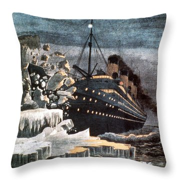 Sinking Of The Titanic Throw Pillow by Granger