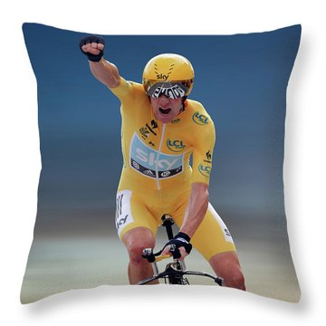 Sir Bradley Wiggins 2 Throw Pillow