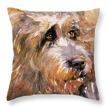 Sir Darby Throw Pillow by Judith Levins