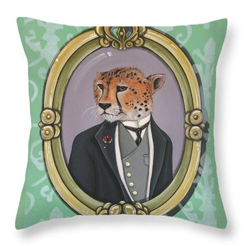 Sir Pettingwise IIi Throw Pillow