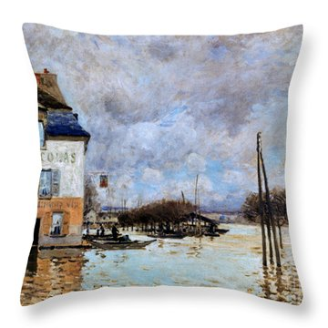 Sisley: Flood, 1876 Throw Pillow by Granger