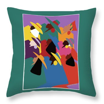 Sisters Of Courage Throw Pillow