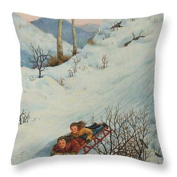 Sisters Solstice Throw Pillow