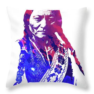 Sitting Bull Throw Pillow
