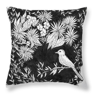 Throw Pillow featuring the painting Sitting Pretty by Lou Belcher