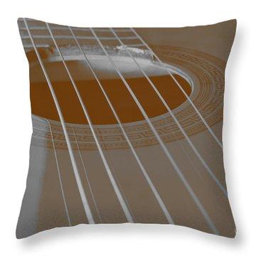 Six Guitar Strings Throw Pillow