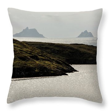 Skellig Islands, County Kerry, Ireland Throw Pillow