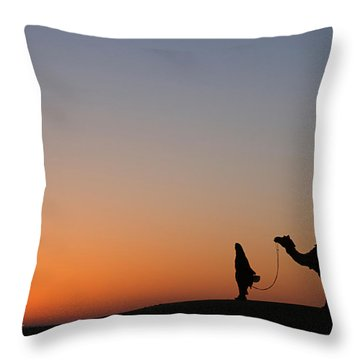 Skn 0866 Just Out Throw Pillow by Sunil Kapadia