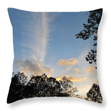 Sky Art Throw Pillow