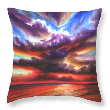 Skyburst Throw Pillow by James Christopher Hill