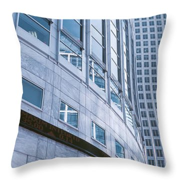 Skyscrapers In A City, Canary Wharf Throw Pillow by Panoramic Images