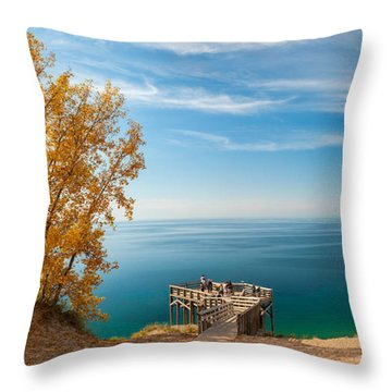 Sleeping Bear Overlook Throw Pillow