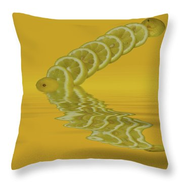 Throw Pillow featuring the photograph Slices Lemon Citrus Fruit by David French