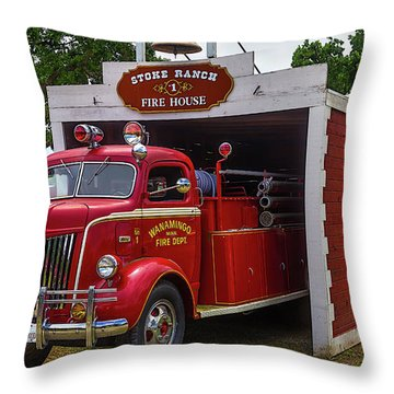 Small Fire House 1 Throw Pillow