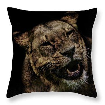Orangutan Smile Throw Pillow by Martin Newman