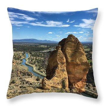 Smith Rocks Throw Pillow
