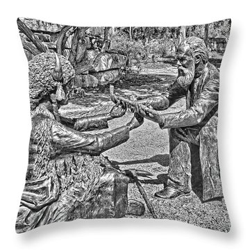 Smoke For Peace Throw Pillow