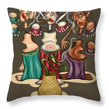 Belly Dancing Throw Pillows