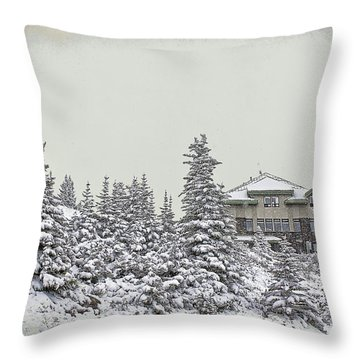 Snow In July Throw Pillow by Teresa Zieba