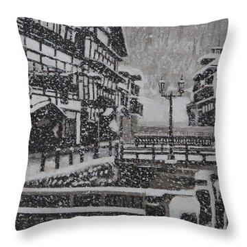 Snow Town Throw Pillow