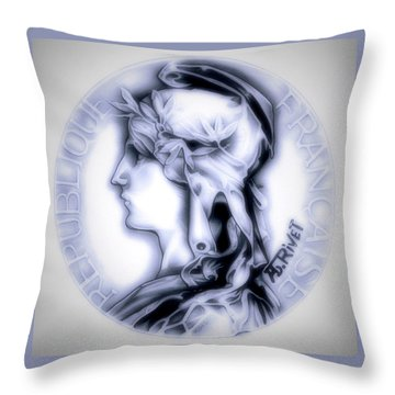 Snowflake 1896 Indochina Throw Pillow by Fred Larucci