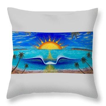 Socal Sunset Throw Pillow