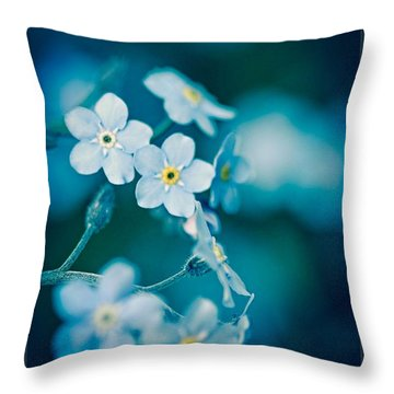 Throw Pillow featuring the photograph Soft Blue by Michaela Preston