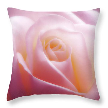 Soft Nostalgic Rose Throw Pillow