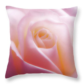 Soft Nostalgic Rose Throw Pillow
