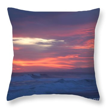 Throw Pillow featuring the photograph Soft Sunset by Michelle Wiarda