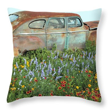Softly Fading Away Throw Pillow