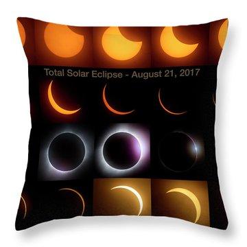 Solar Eclipse - August 21 2017 Throw Pillow by Art Whitton